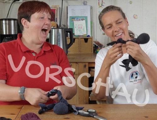 Hundespielzeug basteln: Ein Krake aus alten Socken